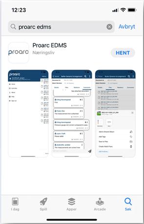 Proarc Mobile EDMS Application